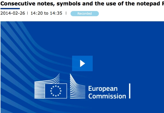 Consecutive notes, symbols and the use of the notepad